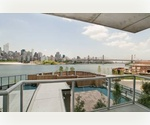 $3890 - 2BR LIC Waterfront Luxury Bldg with Sweeping views of Manhattan! NO FEE!